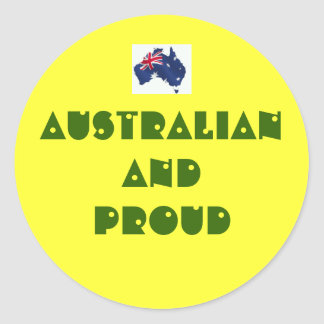 Australian And Proud Classic Round Sticker