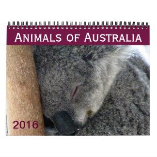 australian animals 2016 calendar