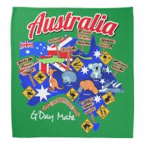 Australian animals and locations bandana