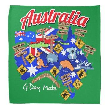 adamfahey Australian animals and locations bandana