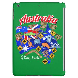 Australian animals and locations iPad air case