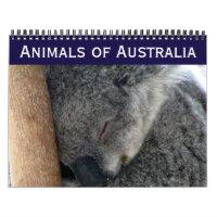 australian animals calendar