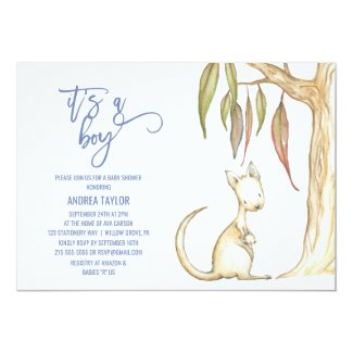 Australian Animals | It's A Boy Baby Shower Card