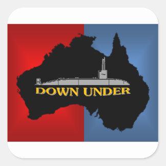 AUSTRALIAN ATTACK SUBMARINE SQUARE STICKER