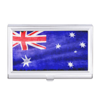 Australian, Aussie Flag, Downunder Patriotic Flag Case For Business Cards