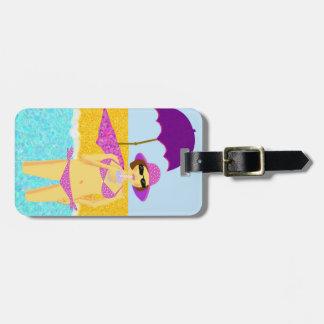 Australian beach babe tags for luggage