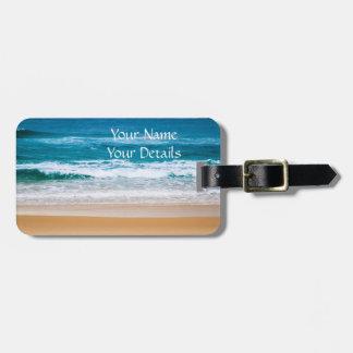 Australian Beach with Blue Waves Bag Tag