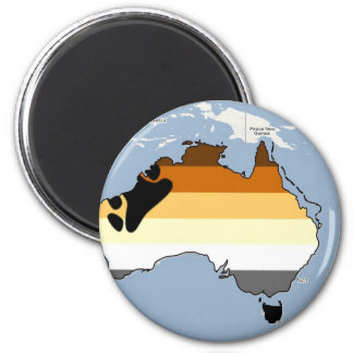 Australian Bear Pride 2 Inch Round Magnet