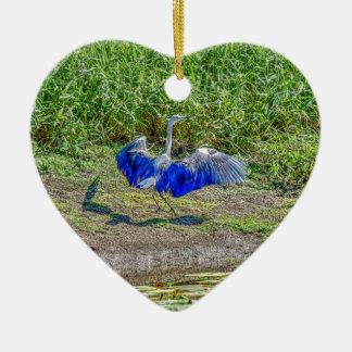 AUSTRALIAN BIRD STORK AUSTRALIA WITH ART EFFECTS CERAMIC ORNAMENT