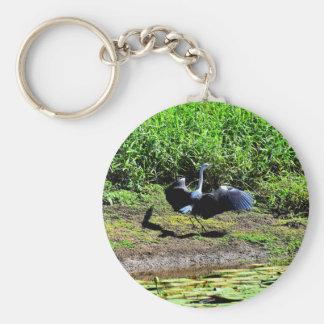 AUSTRALIAN BIRD STORK RURAL QUEENSLAND AUSTRALIA BASIC ROUND BUTTON KEYCHAIN