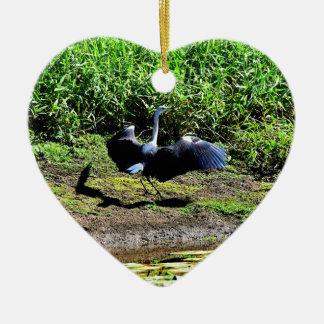 AUSTRALIAN BIRD STORK RURAL QUEENSLAND AUSTRALIA CERAMIC ORNAMENT