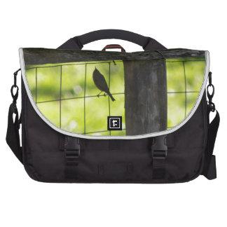 australian birds and flora laptop commuter bag