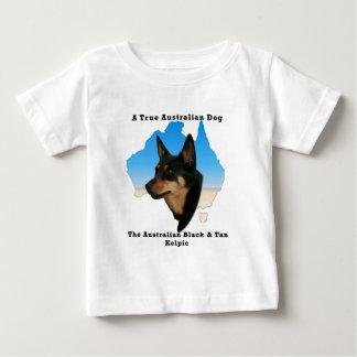 Australian Black and Tan Kelpie with map Infant T-shirt