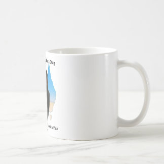 Australian Black and Tan Kelpie with map Coffee Mugs