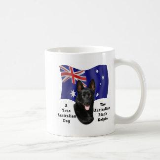 Australian Black Kelpie/Aust.Flag Coffee Mug