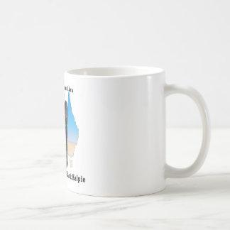 Australian Black Kelpie with map Mugs