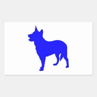 Australian Blue Heeler Rectangular Sticker