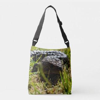 Australian Blue Tongue Lizard, Crossbody  Bag. Crossbody Bag
