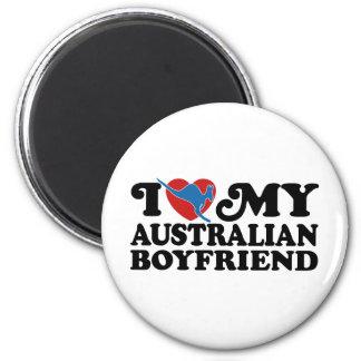 Australian Boyfriend 2 Inch Round Magnet