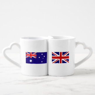 Australian British flag intercultural lovers mugs