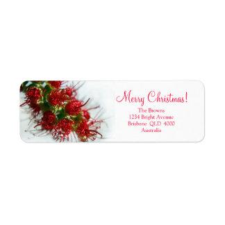 Australian Bush Christmas Label