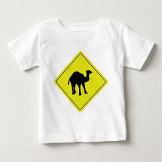 australian camel roadsign yellow baby T-Shirt