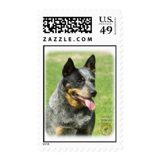 Australian Cattle Dog 9F059D-23 Postage Stamp