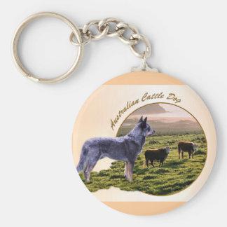 Australian Cattle Dog Art Keychain