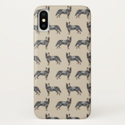 Case-Mate Barely There Apple iPhone XS Case with Australian Cattle Dog Phone Cases design