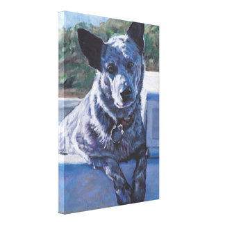 australian cattle dog Blue Heeler fine art Canvas Print