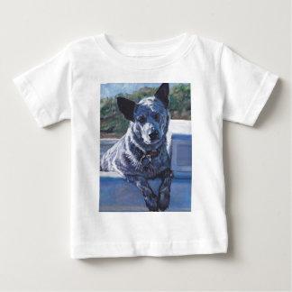 australian cattle dog Blue Heeler fine art T-shirt