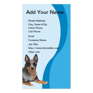 Australian Cattle Dog Blue Swirl Business Card