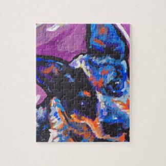 australian cattle dog Bright Colorful Pop Dog Art Jigsaw Puzzle