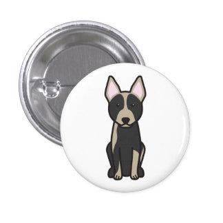 Australian Cattle Dog Cartoon Button