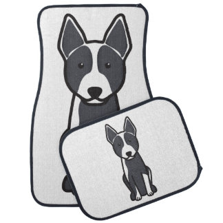Australian Cattle Dog Cartoon Car Mat