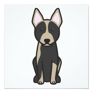 Australian Cattle Dog Cartoon Card