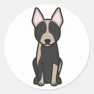 Australian Cattle Dog Cartoon Classic Round Sticker