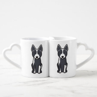 Australian Cattle Dog Cartoon Coffee Mug Set