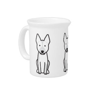 Australian Cattle Dog Cartoon Drink Pitcher