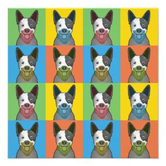 Australian Cattle Dog Cartoon Pop-Art Art Photo