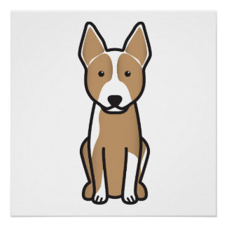 Australian Cattle Dog Cartoon Poster