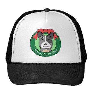 Australian Cattle Dog Christmas Trucker Hats