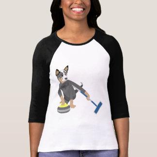 Australian Cattle Dog Curling Tshirt