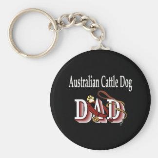 australian cattle dog dad Keychain