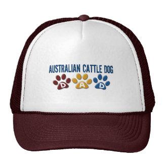 AUSTRALIAN CATTLE DOG DAD Paw Print Trucker Hats