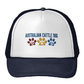 AUSTRALIAN CATTLE DOG DAD Paw Print Mesh Hat