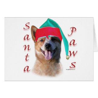 Australian Cattle Dog Dog Santa Paws Greeting Card