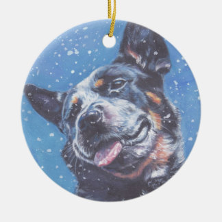 Australian Cattle Dog Fine Art Portrait Ornament