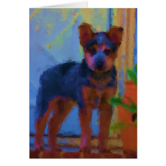 Australian Cattle dog  greeting card -puppy