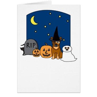 Halloween Themed Australian Cattle Dog Halloween Card